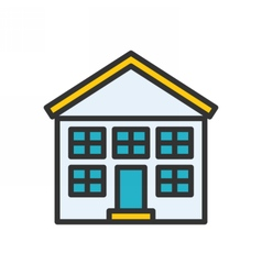 School Outline Icon vector image