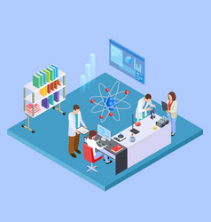 Scientific research laboratory isometric vector