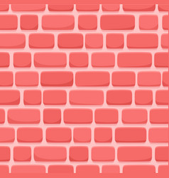 seamless pattern cartoon red brick wall vector image