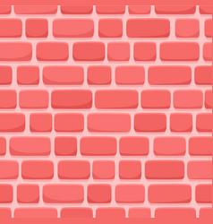 seamless pattern cartoon red brick wall vector image
