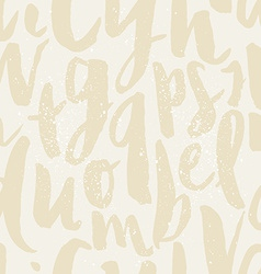 Seamless pattern letters vector image