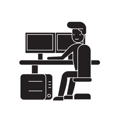 security control workplace black concep vector image