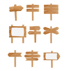 set different wooden street vector image