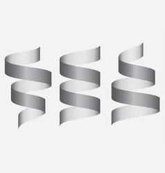 set of ribbon baner icon vector image