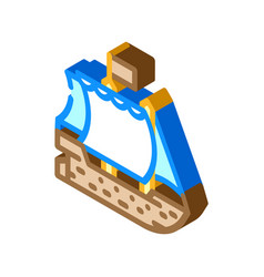 Ship pirate isometric icon vector