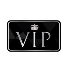 Silver vip pass vector image