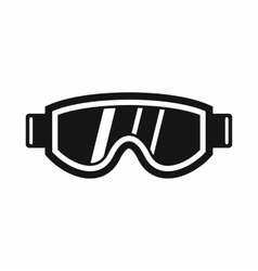 Skiing mask icon simple style vector