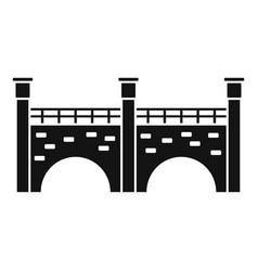 stone bridge icon simple style vector image