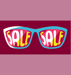 sunglasses with sale vector image