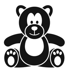 teddy bear icon simple style vector image