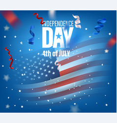 Usa independence day vertical banner with flag vector