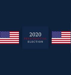 usa vote banner 2020 united states america vector image