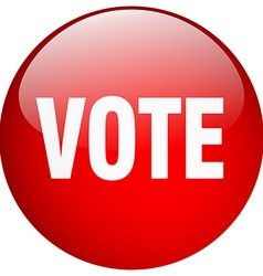 Vote red round gel isolated push button vector