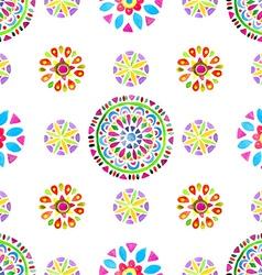 watercolor retro pattern geometric shapes vector image
