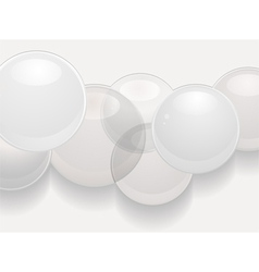 White glossy sphere 3d background vector