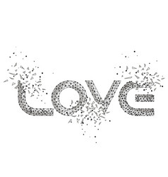 word love explosion vector image