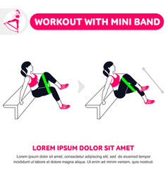 Workout with mini band vector