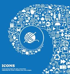 Yarn ball icon sign Nice set of beautiful icons vector image