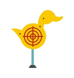 Yellow duck target icon vector