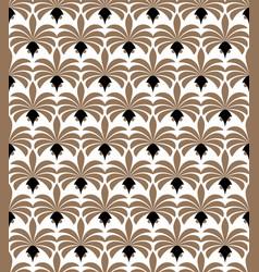 art deco seamless pattern geometric floral vector image