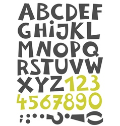 Font set letters and numbers vector image vector image