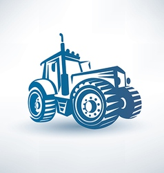 modern tractor symbol vector image vector image