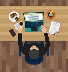 Office man having a break vector image vector image