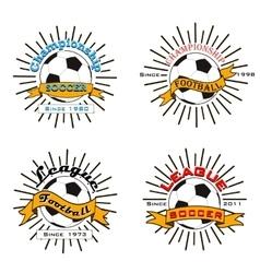 Set of soccer football logo vector