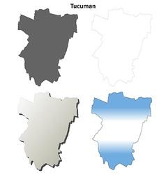 Tucuman blank outline map set vector