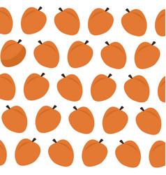 apricot fruit food fresh seamless pattern image vector image