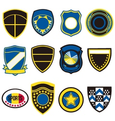 badge icon symbol set vector image vector image