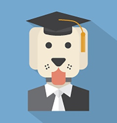 Dog With Mortarboard Pedigree Concept vector image vector image