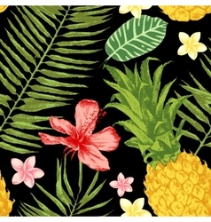 Hand drawn tropical seamless vector image vector image