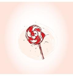 Lollipop Hand drawn sketch on pink background vector image vector image