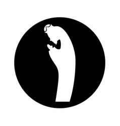 manger saint joseph figure silhouette icon vector image vector image