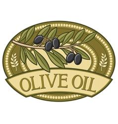 olive oil label vector image