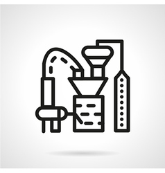 Processing crops factory line icon vector