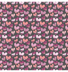 seamless pattern with small hearts vector image vector image