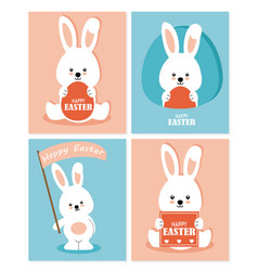set four easter greeting cards vector image vector image