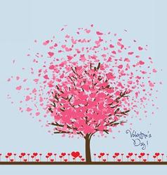 Valentine or wedding card vector image