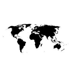 world map isolated high vector image