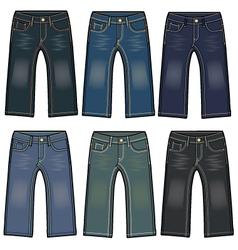 Boys denim washing jeans vector