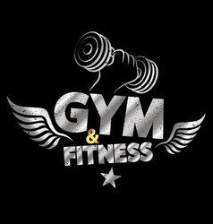 gym and fitness abstract vector image vector image
