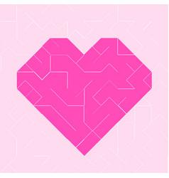 heart pink low polygon vector image vector image