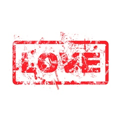 love dirty grungy rubber stamp vector image