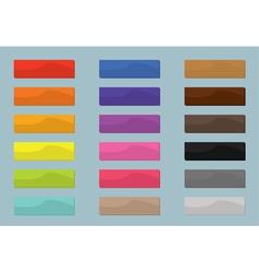 Set colored web buttons flat design vector image