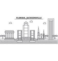 florida jacksonville architecture line skyline vector image