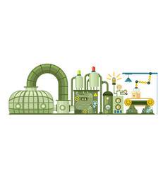 futuristic manufacturing concept with conveyor vector image