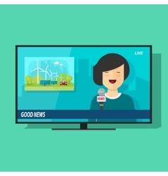Good tv news flat cartoon vector