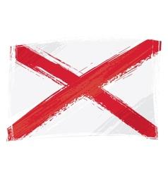 grunge alabama flag vector image vector image